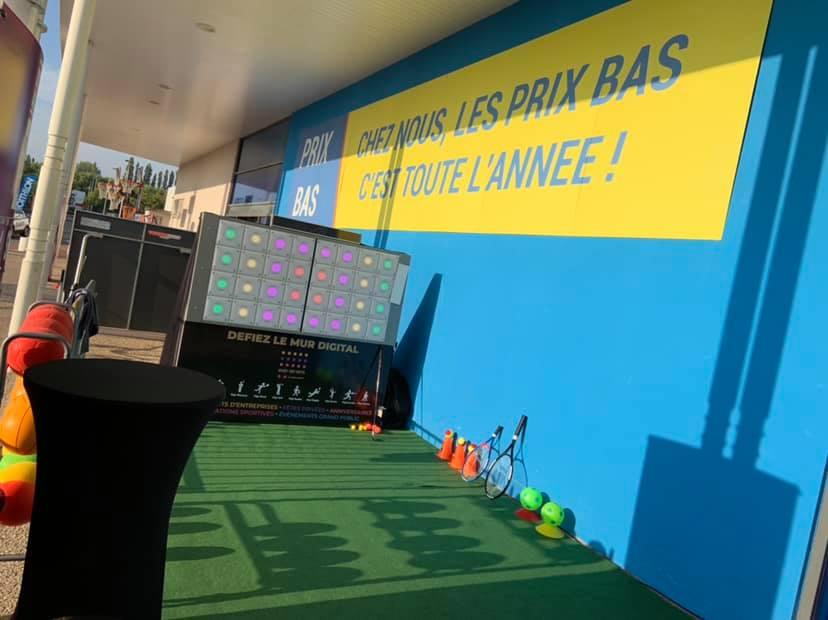 Decathlon mur-digital - Wad events - animation Amiens Hauts de France